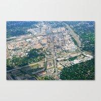 Aerial City Landscape Canvas Print