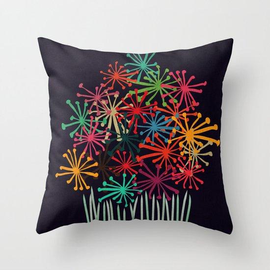 Flower Bouquet Throw Pillow