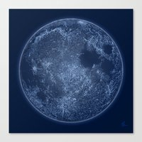 Dark Side Of The Moon - … Canvas Print