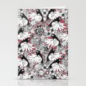 hummingbird heaven rouge Stationery Cards