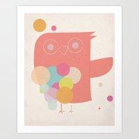 Owly Owl//One Art Print