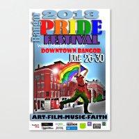 Commemorative Bangor PRIDE Festival 2013 Canvas Print