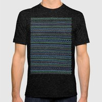 Blue Green Mens Fitted Tee Tri-Black SMALL
