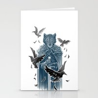 Wolf And Ravens Stationery Cards