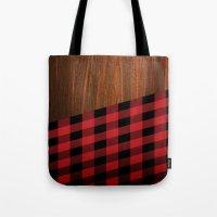 Wooden Lumberjack Tote Bag
