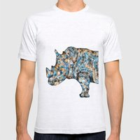 Rhino-no Text Mens Fitted Tee Ash Grey SMALL