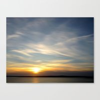 Wispy Cloud Sunset Canvas Print