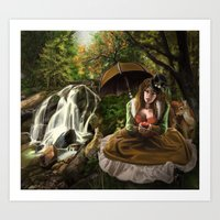 Steampunk Snow White Art Print