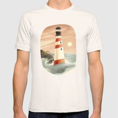Whale Mens Fitted Tee Natural SMALL