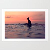 Surfing Cocoa Beach FL Art Print