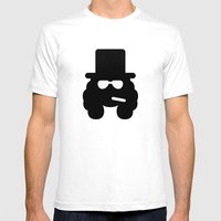 Slash Mens Fitted Tee White SMALL