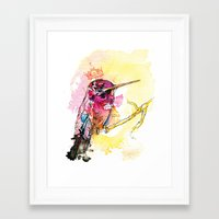 Little Queen Framed Art Print