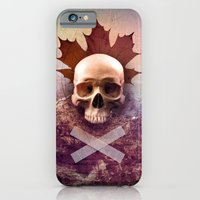 iPhone & iPod Case featuring Skull and Leaf by Andre Villanueva