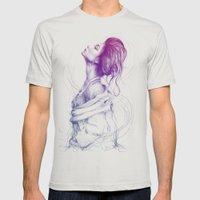 Pretty (Purple) Lady Por… Mens Fitted Tee Silver SMALL
