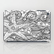 Starfish went out swimming iPad Case