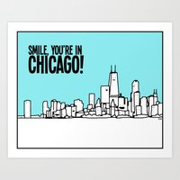 Smile Chicago Art Print