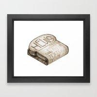 Info Toaster Framed Art Print