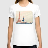 An Afternoon Stroll In P… Womens Fitted Tee White SMALL