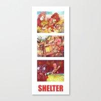 Shelter Girl  Canvas Print