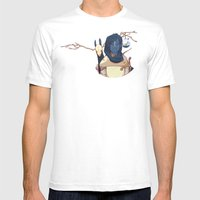 Hunter Gather Mens Fitted Tee White SMALL