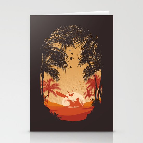 Summertime Madness Stationery Card