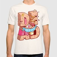 Dead meat Mens Fitted Tee Natural SMALL