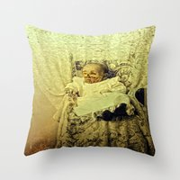 Zombie Baby  Throw Pillow