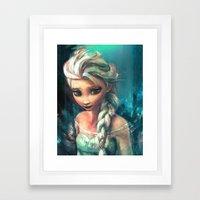 The Storm Inside Framed Art Print