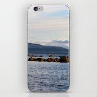 Sail Away On Galway Bay - Ireland Ocean Landscape - Blue iPhone & iPod Skin