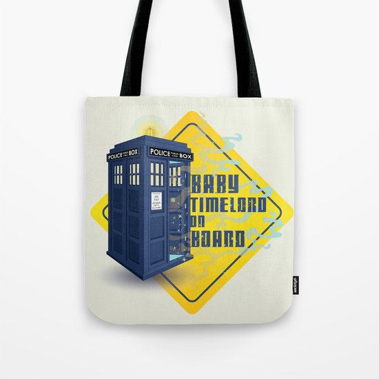 Doctor Who Tardis - Baby Timelord on Board Tote Bag
