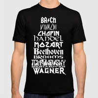 Composers Mens Fitted Tee Black SMALL