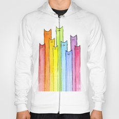 Rainbow of Cats Hoody
