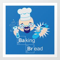 Baking Bread Kawaii Art Print
