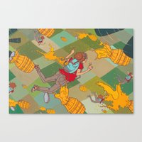 Juicy Plunge Canvas Print
