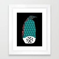 Abstract Penguin Framed Art Print