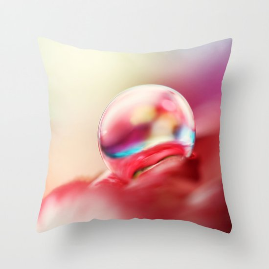 Dreamy Droplet Throw Pillow