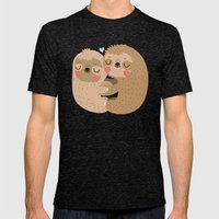 Sloth Love Mens Fitted Tee Tri-Black SMALL