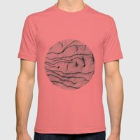 Lines #1 Mens Fitted Tee Pomegranate SMALL