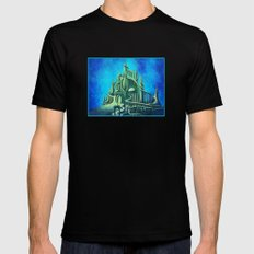 Mysterious Fathoms Below Mens Fitted Tee Black SMALL