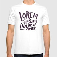 Lorem Ipsum Mens Fitted Tee White SMALL