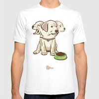 Cerberus Puppy Mens Fitted Tee White SMALL