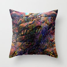 """And gaze for hours on the muscle, skin and bone."" Throw Pillow"