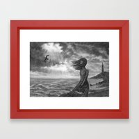The Lighthouse Keeper's … Framed Art Print