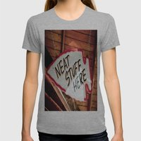 Neat Stuff Here Womens Fitted Tee Athletic Grey SMALL