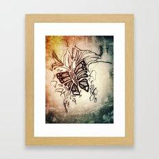 Winter textures Framed Art Print