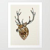 Deer // Animal Poker Art Print