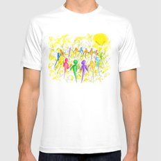 One Breath Mens Fitted Tee White SMALL