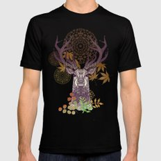 THE FRIENDLY STAG Mens Fitted Tee SMALL Black