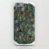 iPhone Cases featuring Little Forest Town by Samantha Dolan