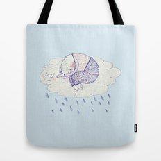 rainy cat Tote Bag